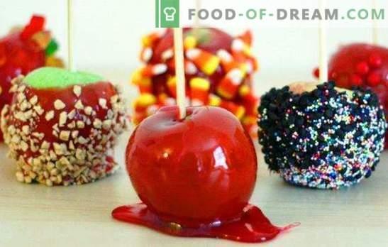 Āboli karameļos mājās - skaists! Dažādas ābolu receptes karameļos mājās