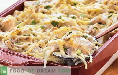 Vistas spageti ir ātra un lēta vakariņas. Kā pagatavot spageti ar vistu visa ģimenes priekam: labākās receptes