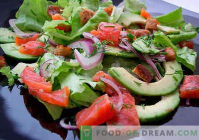 Foreles salāti - labākās receptes. Kā pareizi un garšīgi pagatavoti salāti ar foreli.