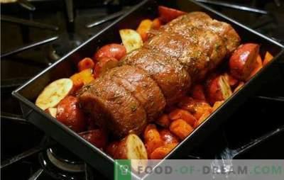 Sealiha köögiviljadega ahjus - alati maitsev! Kuidas valmistada sealiha köögiviljadega ahjus - lihtsad ja pidulikud retseptid