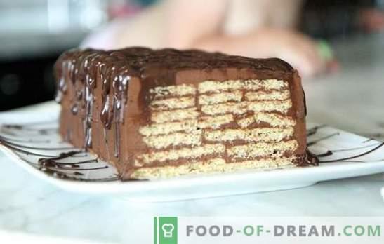Cake bez cepšanas cepumiem un kondensēta piena - minūtēs! Kā pagatavot kūku no cepumiem un kondensēta piena bez cepšanas