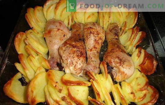 Muslos de pollo con papas en el horno - ¡una cena maravillosa! Recetas para muslos de pollo con papas en el horno: 7 variantes de un plato