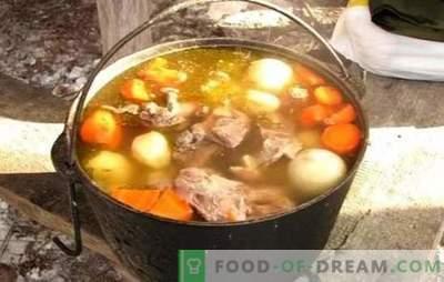 Šurpa katlā ir garšīgākā zupa! Brīnišķīga šurpa gatavošana austrumu katlā ar jēru, cūkgaļu, liellopu gaļu un vistas gaļu