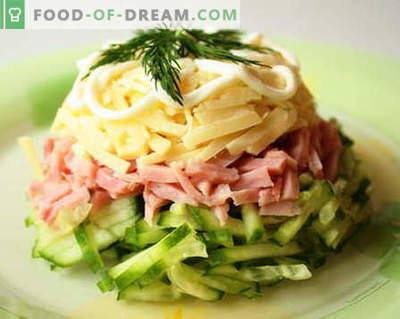 Šķiņķa salāti ir labākās receptes. Kā pareizi un garšīgi pagatavot salātus ar šķiņķi.