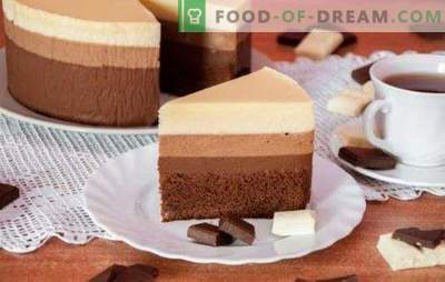 Trīs šokolādes kūka: recepte visprecīzākajiem gardēžiem.