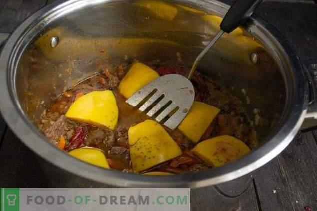 Aromātisks plīvurs ar cidoniju un liellopu gaļu