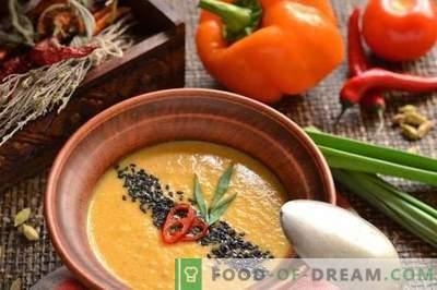Veģetārie krēmzupa - Indijas klasika
