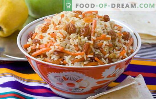 Pilaf sin carne es una variante de un plato favorito para el ayuno. Cómo cocinar delicioso pilaf sin carne: con champiñones, frutos secos, legumbres