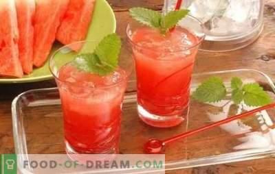 Arbūzi kokteiļi - atspirdzinoši dzērieni ballītēm un atpūtai. Receptes bezalkoholiskiem un alkoholiskiem arbūzu kokteiļiem