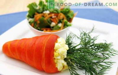 Insalata di carote e uova - una combinazione di gusto e beneficio. Le migliori ricette per carote e uova: semplici, originali e puff