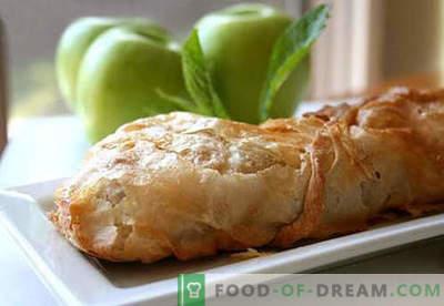 Ābolu strūdele - labākās receptes. Kā pareizi un garšīgi gatavot strūdeli ar āboliem.