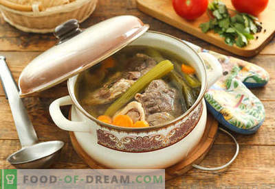 Soup in meat broth - the best recipes. How to properly and tasty cook soup in meat broth.
