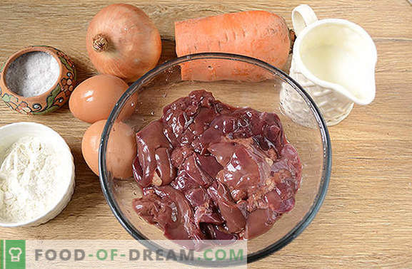 Soufflé di fegato: piatto dietetico delicato e sano. Foto-ricetta dettagliata dell'autore del soufflé di fegato dal fegato di pollo