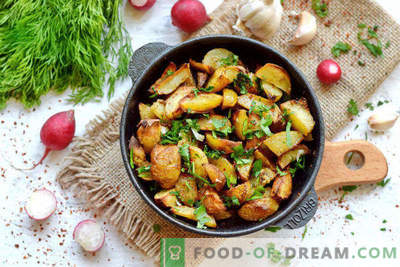 New potatoes in the oven, a recipe for village style