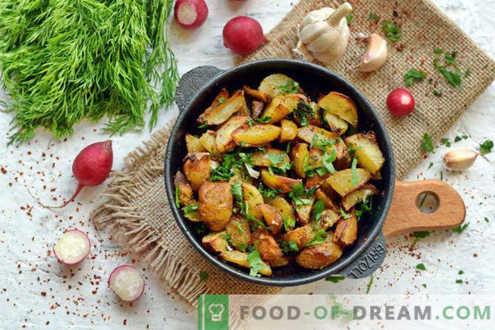 Jauni kartupeļi cepeškrāsnī, recepte Selyanski