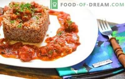 Griķi ar sautējumu lēnā plītī - pusdienas un vakariņas bez tvaicēšanas! Vienkārši veidi un labākās griķu receptes ar sautējumu lēnā plītī