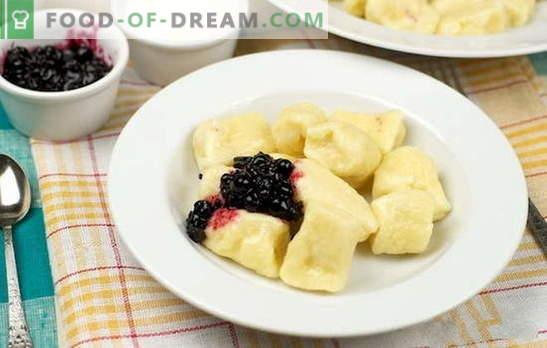 Lazy pelmeņi ar biezpienu - ne tikai brokastīm! Visveiksmīgākās receptes slinkiem pelmeņiem ar biezpienu: salda un sāļa