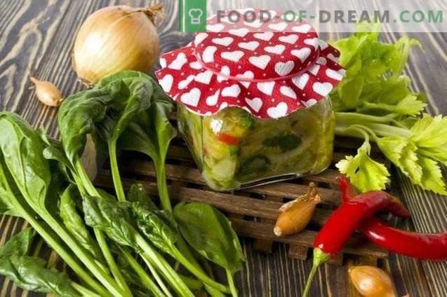 Zaļā zupa ziemai - zupas mērce ar spinātiem un selerijām