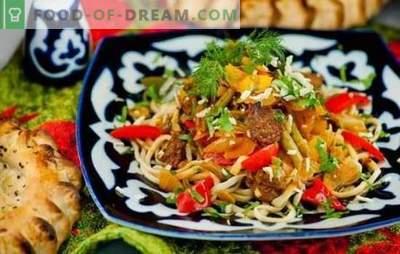 """Pakāpeniska recepte lagmanam: Āzijas virtuves iezīmes. Kādai jābūt """"pareizai"""" pakāpeniskai Lagmanas receptei?"""