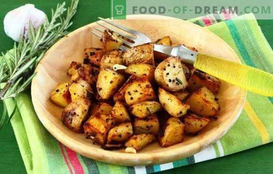 Papas al horno en una olla de cocción lenta - ¡útil! Recetas de papas al horno en un multicooker con especias, en crema, con queso, tocino, etc.