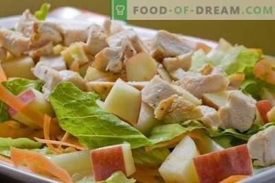 Vistas un ābolu salāti ir labākās receptes. Kā pareizi un garšīgi sagatavot vistas salātus ar āboliem.