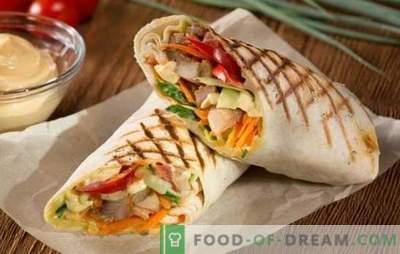 Cūkgaļas shawarma - karaļa ēdināšana! Receptes pašmāju shawarma ar cūkgaļu un dārzeņiem, sēnēm, sieru, gurķiem