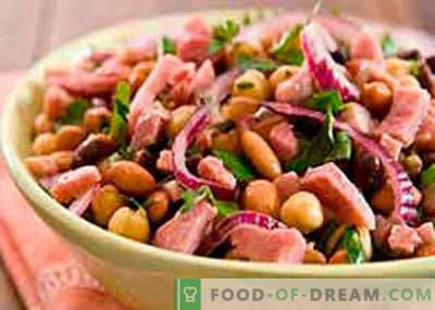 Pupiņu un šķiņķa salāti - labākās receptes. Kā pareizi un garšīgi pagatavot pupiņu salātus ar šķiņķi.