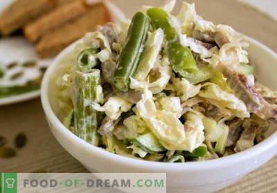 Vistas vēdera salāti - labākās receptes. Kā pareizi un garšīgi pagatavot salāti ar vistas gīzēm.
