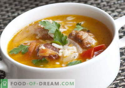 Zupas ar rīsiem - labākās receptes. Kā pareizi un garšīgi pagatavot zupu ar rīsiem.
