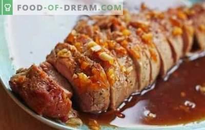 Svinjina v medni omaki je okusna jed. Kako kuhati svinjino v medu, medniški gorčici in medu v oranžni omaki
