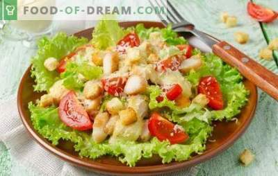 Cēzara salāti ar majonēzi: no vienkāršām līdz izsmalcinātām receptēm. Kā pagatavot gardus Cēzara salātus ar majonēzi