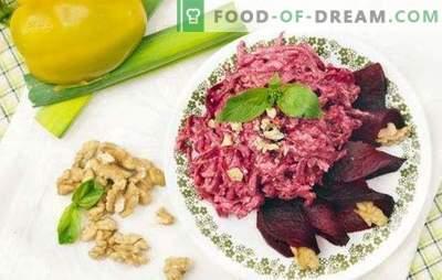 Biešu salāti ir vienkārši un garšīgi - krāsu un garšas sacelšanās. Labākās receptes biešu salātiem ir vienkāršas un garšīgas