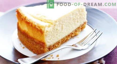 Cheesecake cheesecake - najboljši recepti. Kako pravilno in okusno kuhati skuto.