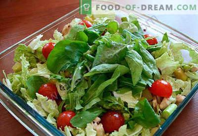 Salāti ar sparģeļiem - labākās receptes. Kā pareizi un garšīgi pagatavot salātus ar sparģeļiem.