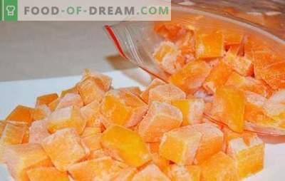 Congelando a abóbora em fatias ou na forma de purê de batatas. Como congelar abóbora crua, assada e o que preparar dela