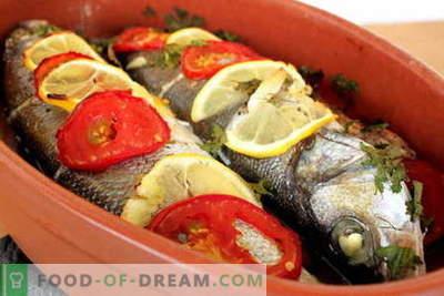 Cepeškrāsnī ceptas zivis - labākās receptes. Kā pagatavot zivis krāsnī.