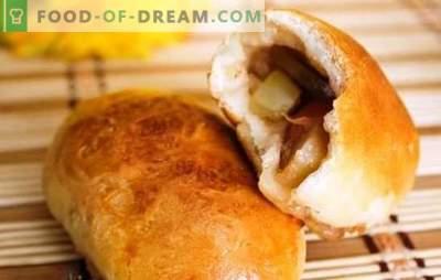 Rauga pīrādziņi ar āboliem krāsnī - skaists! Receptes mīklas un pildījumu rauga pīrāgi ar āboliem krāsnī