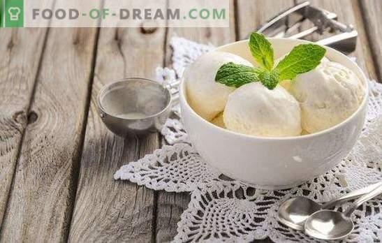 Saldējums no piena mājās ir dabisks produkts! Receptes garšīgam saldējumam no piena mājās