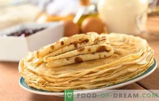 Pankūku recepte ir ātra un garšīga - labākā cepšana steigā. Labākās pankūku receptes ātri un garšīgi pienā, ūdenī, kefīrā