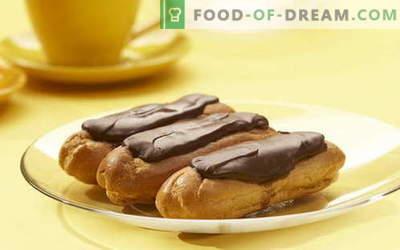 Choux konditorejas izstrādājumi ir labākās receptes. Kā pareizi un garšīgi pagatavoti olu krēmveida kūkas.