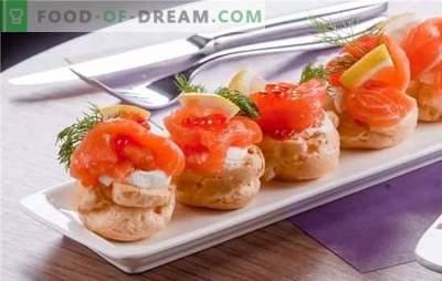 Zivju uzkodas - garšīgi! Receptes no delicious zivju uzkodas siļķes, konservi, saury ar sviestu, sieru, dārzeņiem