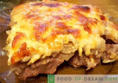 Liha juustuga - parimad retseptid. Kuidas õigesti ja küpsetada liha juustuga.