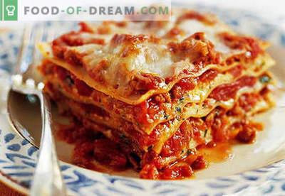 Lasagna w domu - odpowiednie przepisy. Jak szybko i smacznie gotować lasagne w domu.