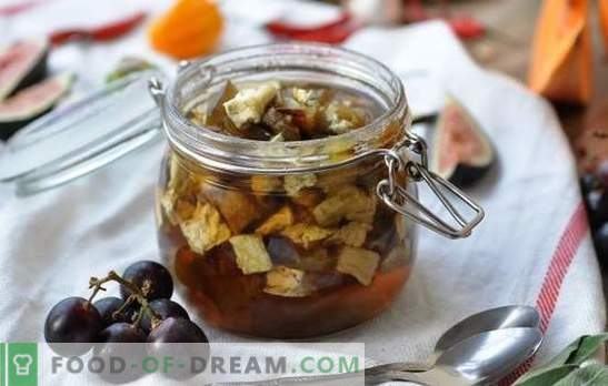 Baklažānu ievārījums - deserts ar pārsteigumu! Receptes vienkāršas un armēņu baklažānu ievārījums ar vai bez sodas