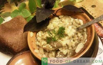 Perlovka in pots - delicious, not the word! Recipes Barley with meat in pots with vegetables, mushrooms and milk