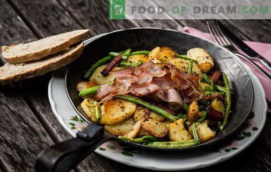 Kartupeļi ar gaļu pannā - tradīcija! Labākās ceptu kartupeļu receptes ar gaļu pannā: ar malto gaļu, krējumu, dārzeņiem