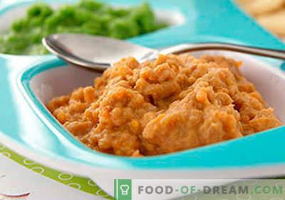 Gaļas biezenis - labākās receptes. Kā pareizi un garšīgi pagatavot gaļas biezeni.