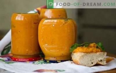 Ķirbju kaviārs ziemai ir garšīgs veids, kā saglabāt vitamīnus. Labākās receptes kaviāra gatavošanai uz plīts, lēnā plīts un krāsnī