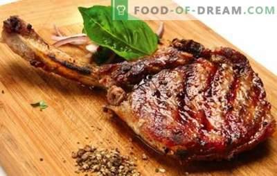 Cūkgaļas kauliņi - gardākās gaļas receptes. Kā pagatavot cūkgaļu cepeškrāsnī, kauliņā un krāsnī