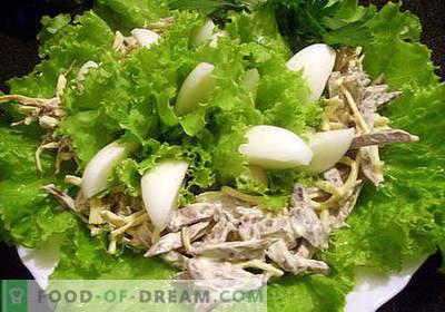 Cūkgaļas sirds salāti - labākās receptes. Kā pareizi un garšīgi pagatavot cūkgaļas svaigu salātu.